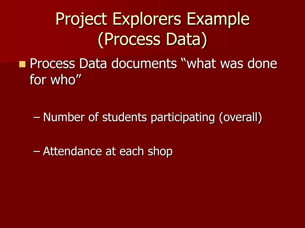 Project Explorers Example