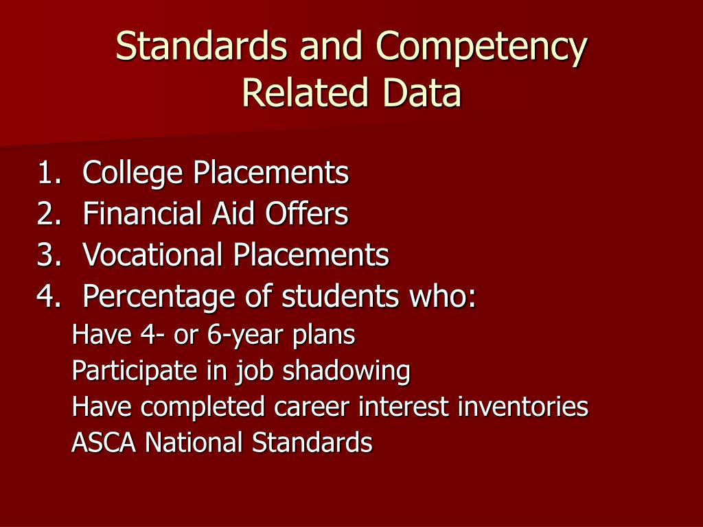 Standards and Competency