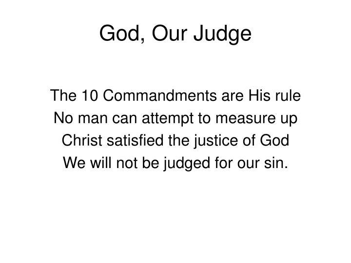 God, Our Judge