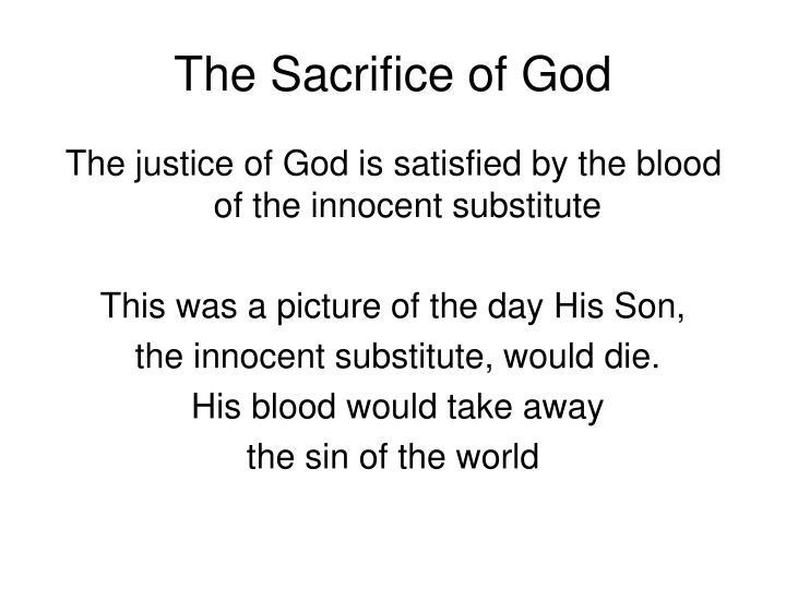The Sacrifice of God