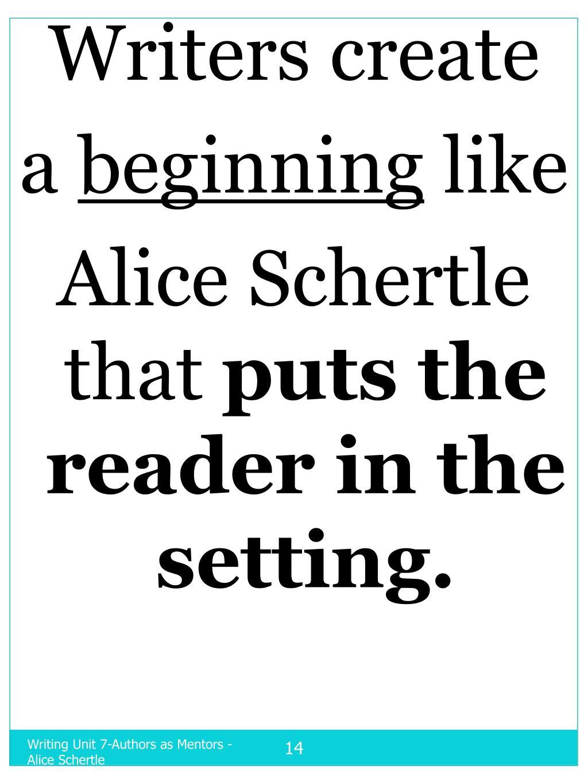 Writers create