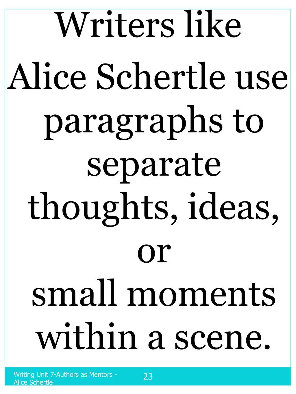 Writers like