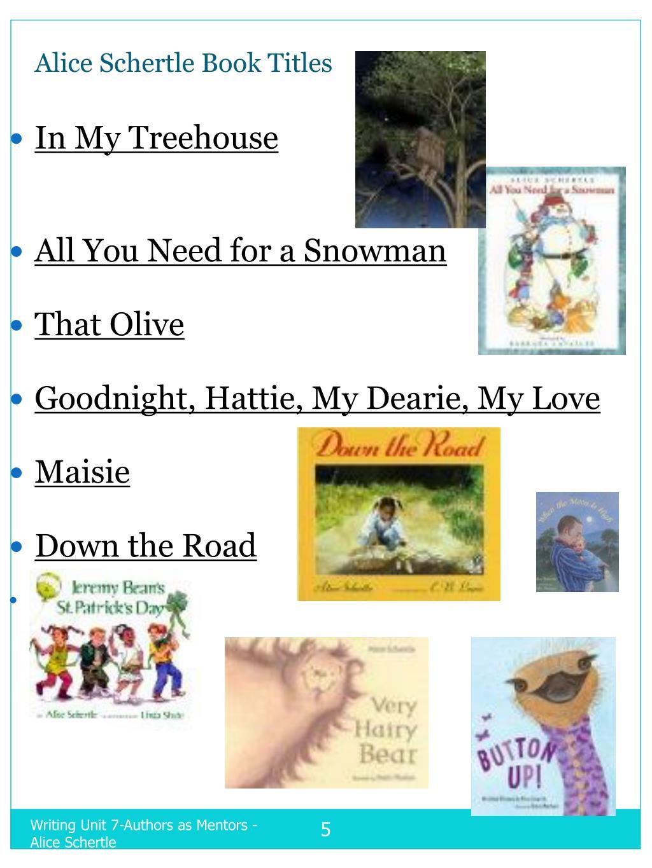 Alice Schertle Book Titles