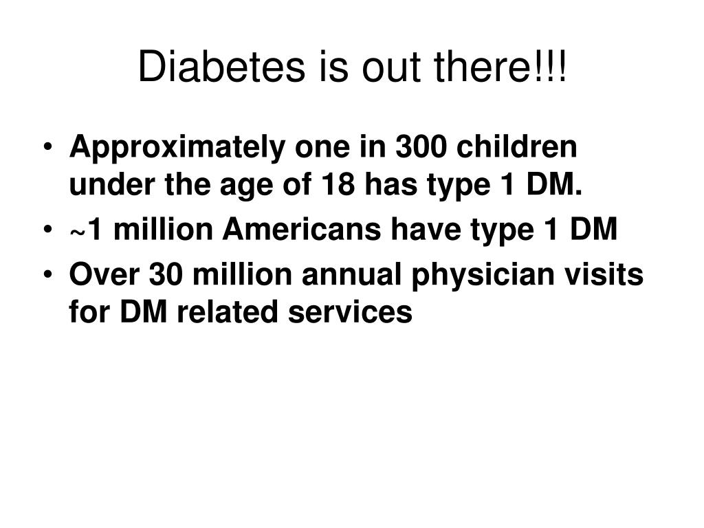 Diabetes is out there!!!