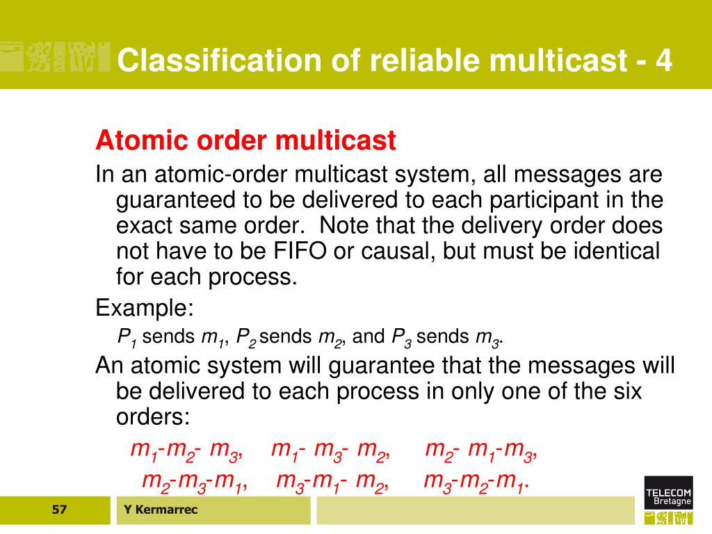 Classification of reliable multicast - 4