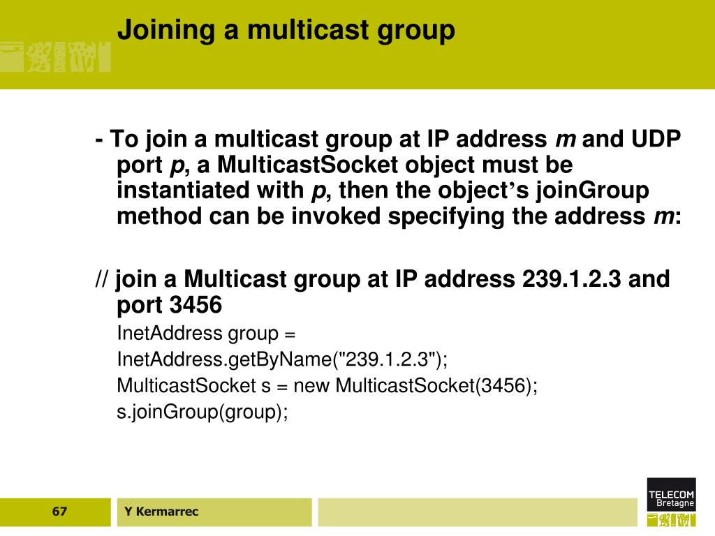 Joining a multicast group