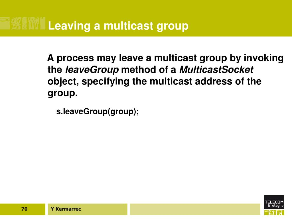 Leaving a multicast group