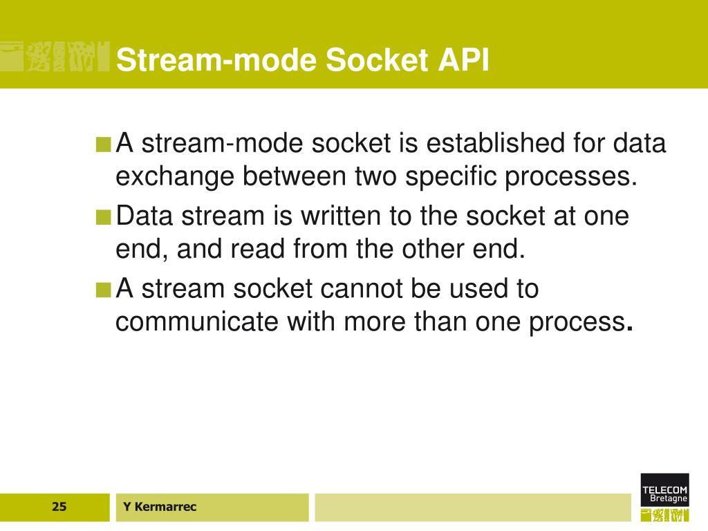 Stream-mode Socket API