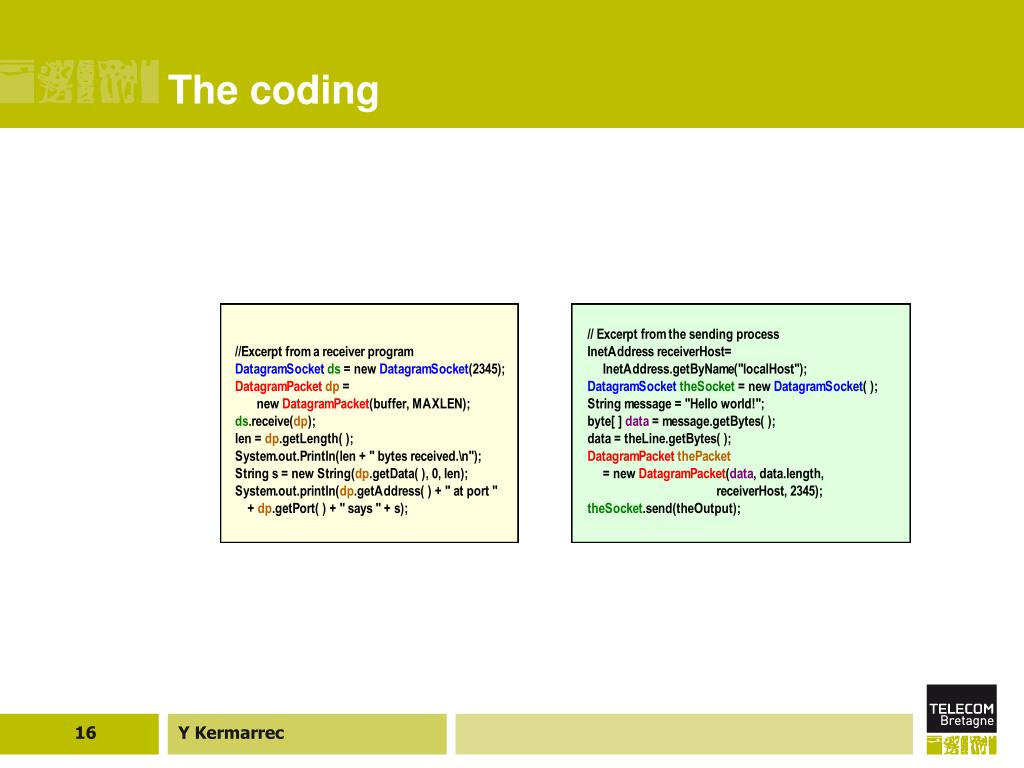 The coding