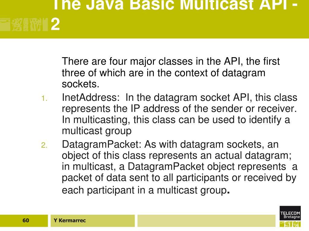 The Java Basic Multicast API - 2