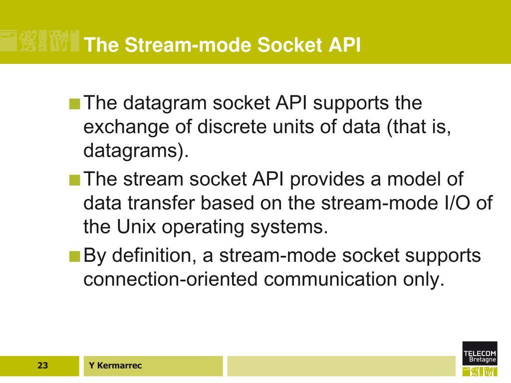 The Stream-mode Socket API