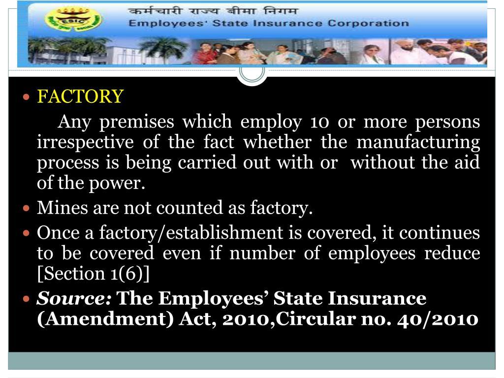 employee state insurance act