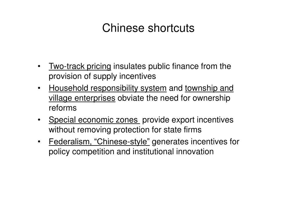 Chinese shortcuts