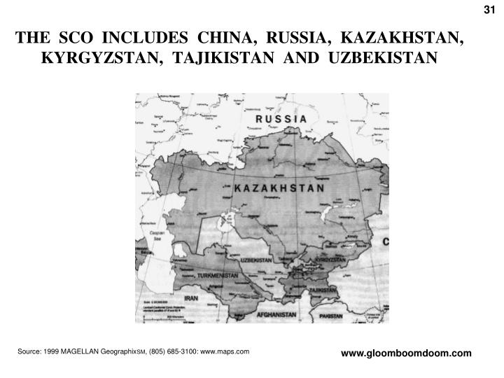 THE  SCO  INCLUDES  CHINA,  RUSSIA,  KAZAKHSTAN,