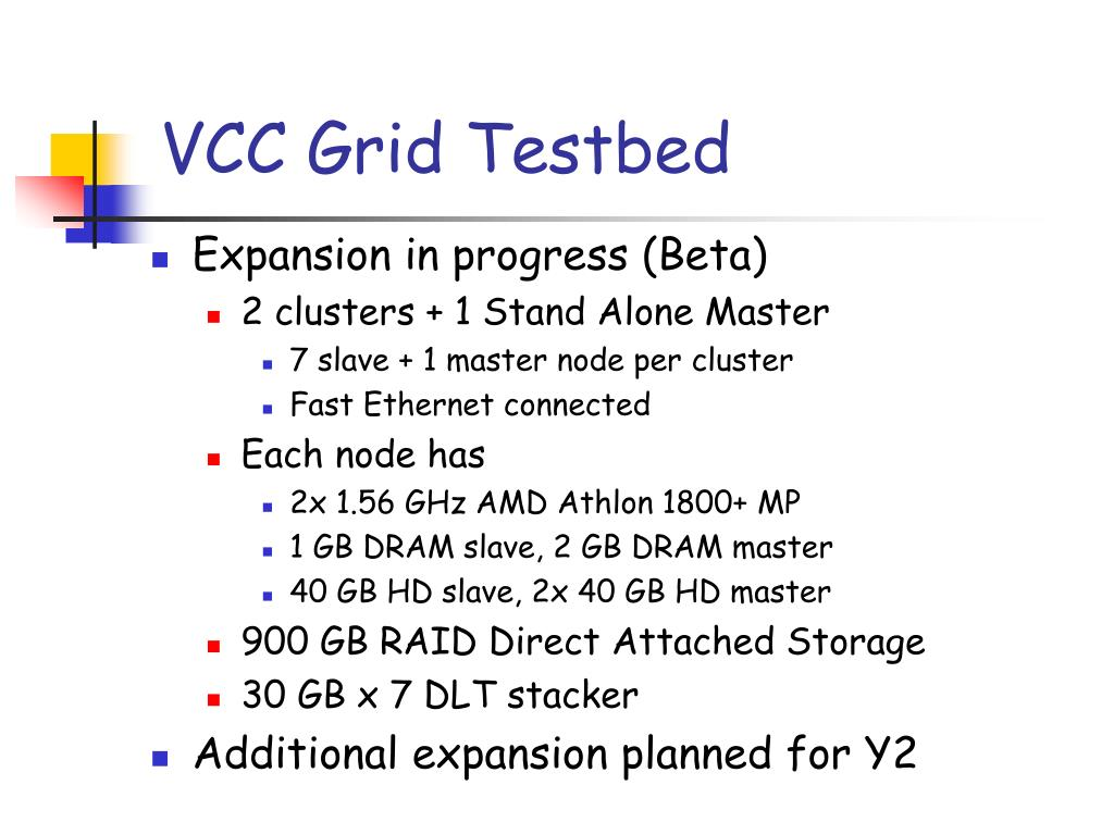VCC Grid Testbed