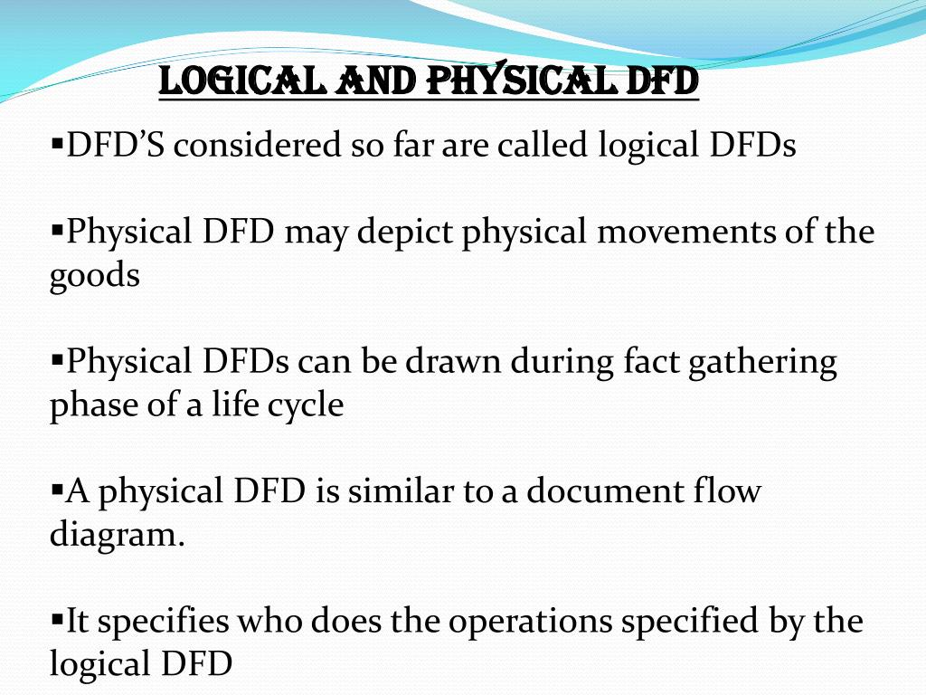 LOGICAL AND PHYSICAL DFD