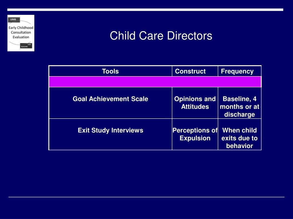 Child Care Directors