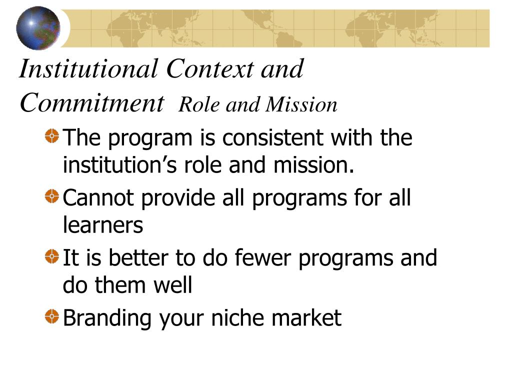 Institutional Context and Commitment