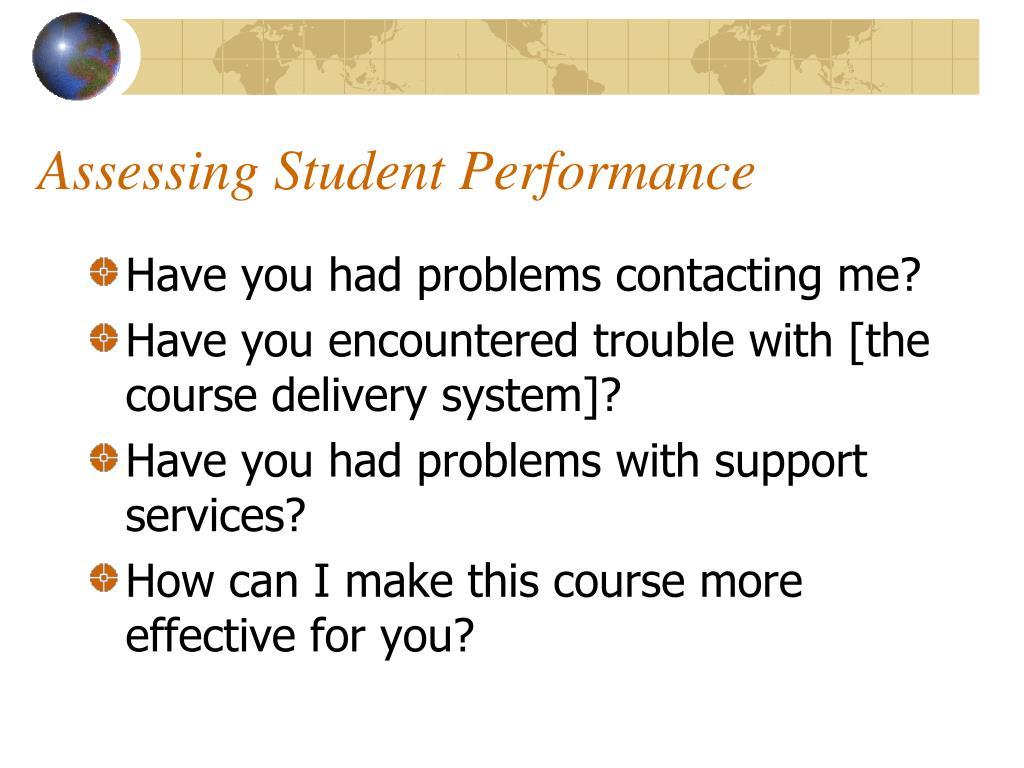 Assessing Student Performance