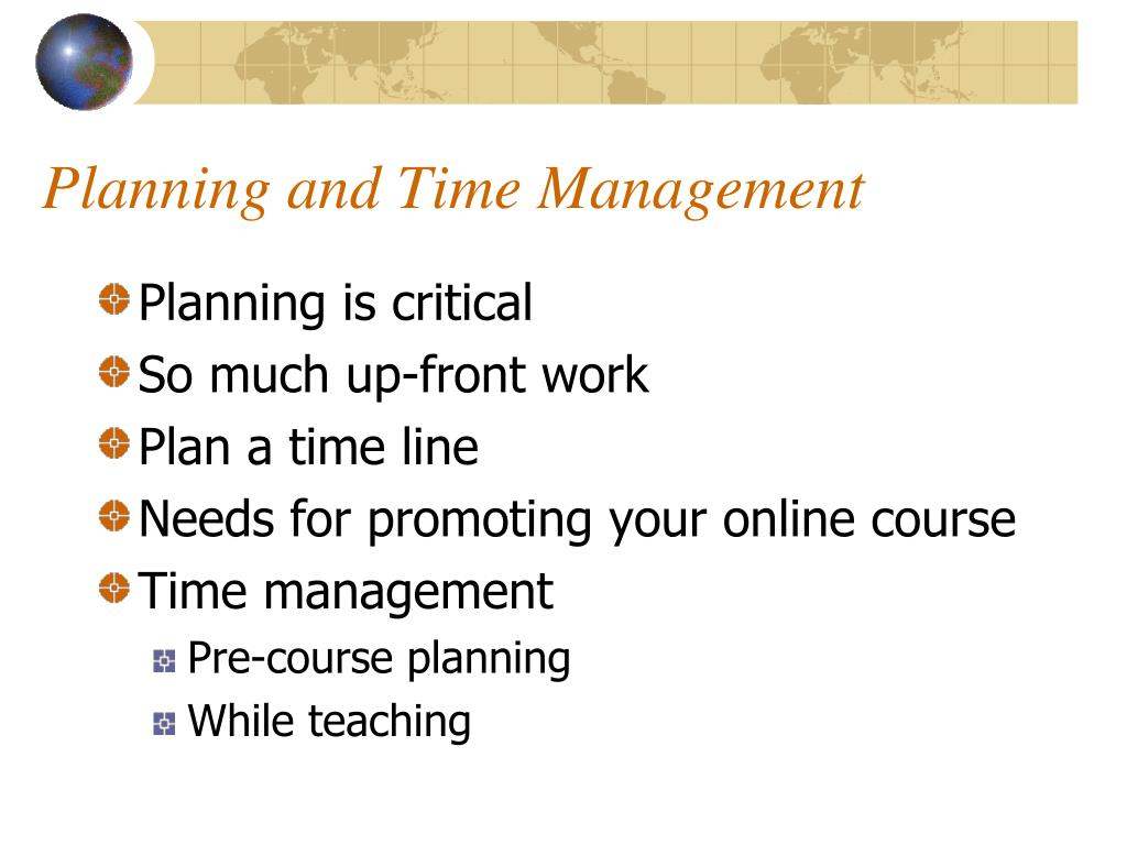 Planning and Time Management