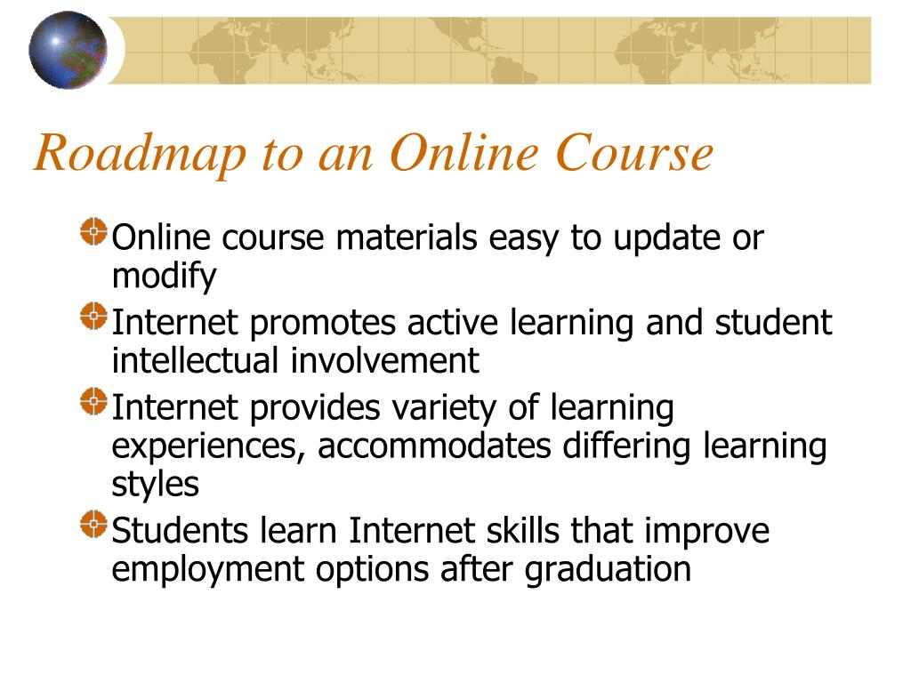 Roadmap to an Online Course