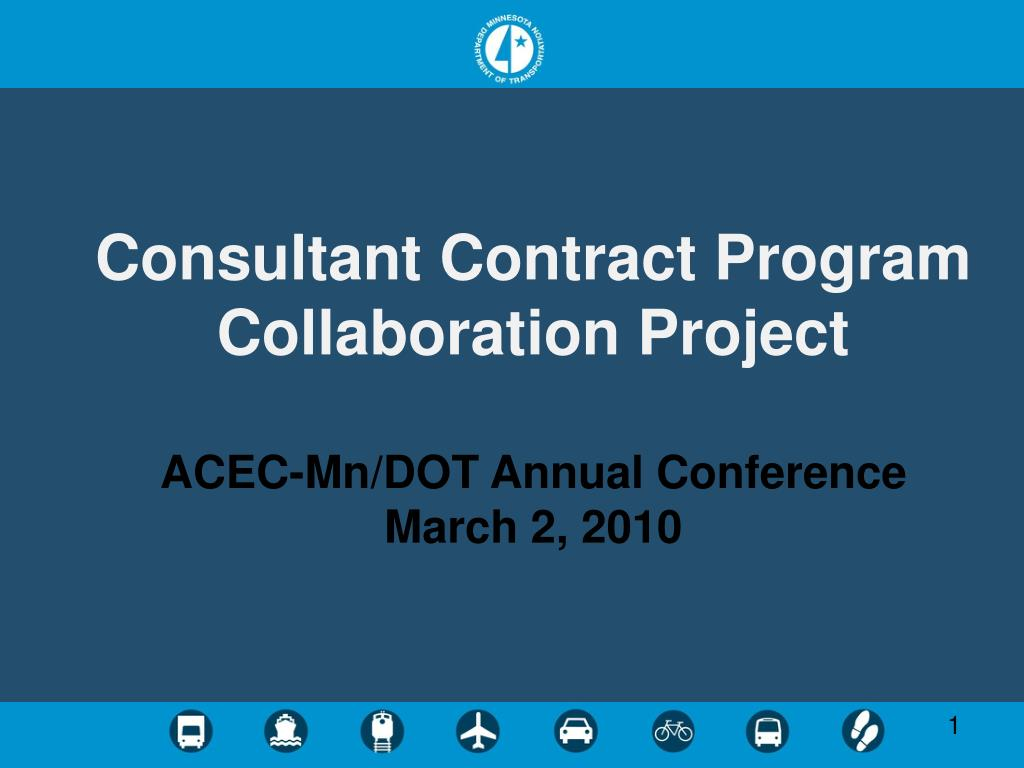 Consultant Contract Program Collaboration Project