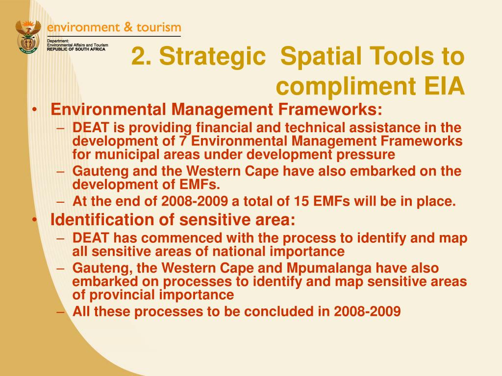 2. Strategic  Spatial Tools to compliment EIA