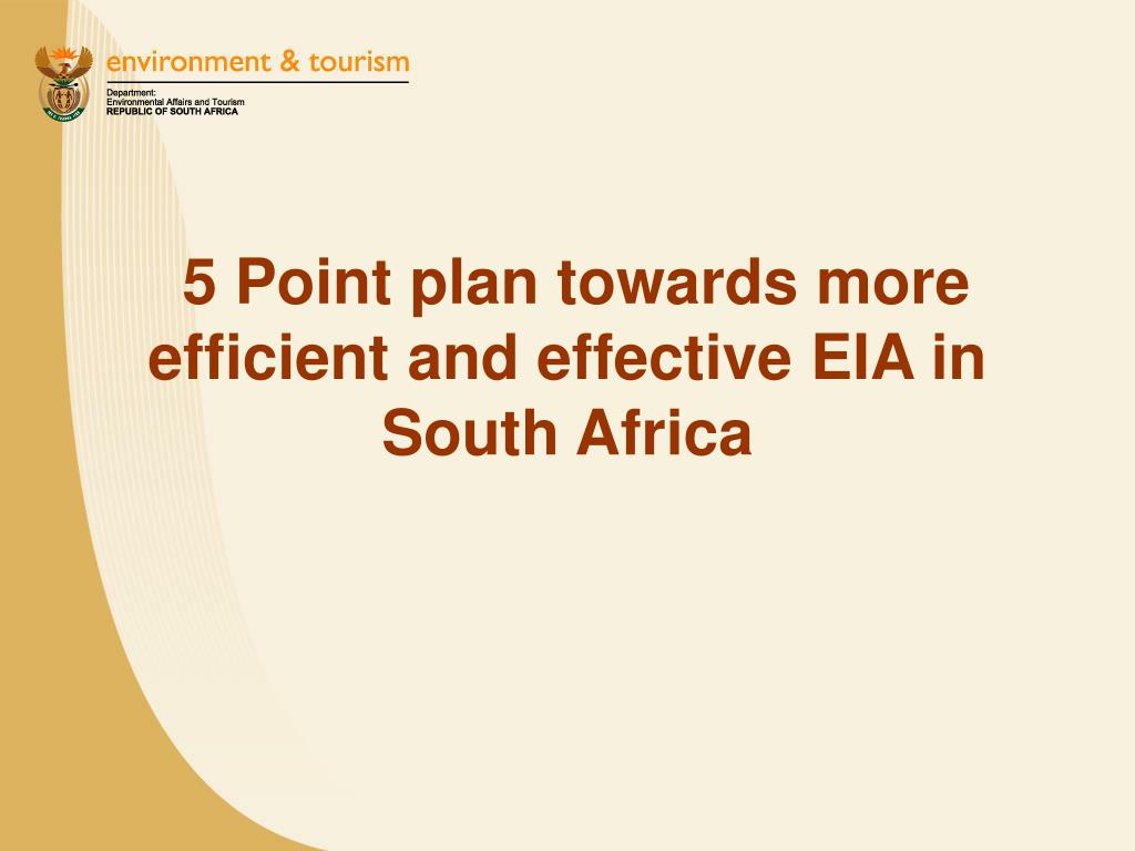 5 Point plan towards more efficient and effective EIA in South Africa