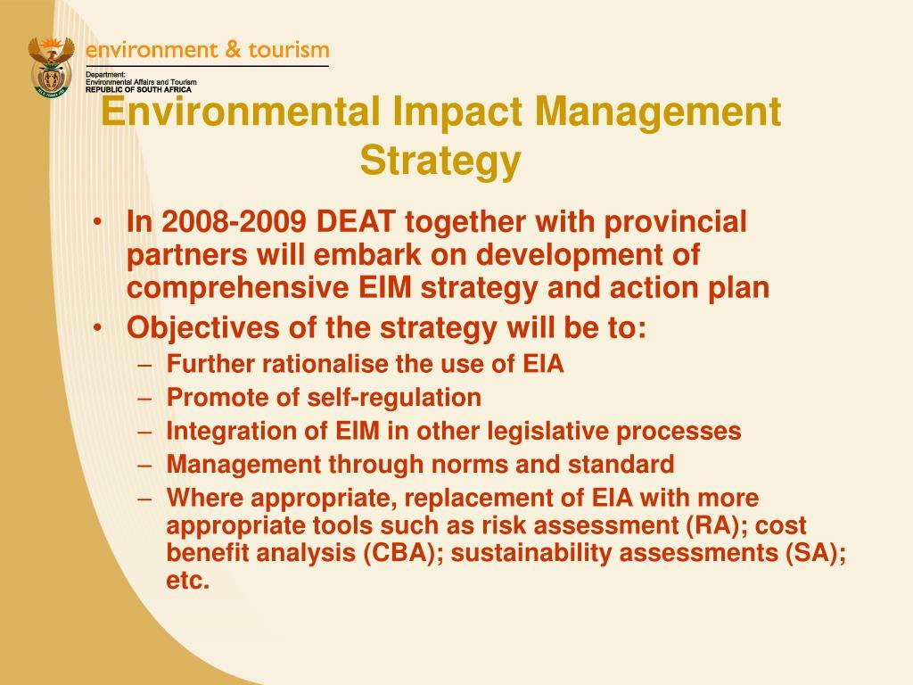 Environmental Impact Management Strategy