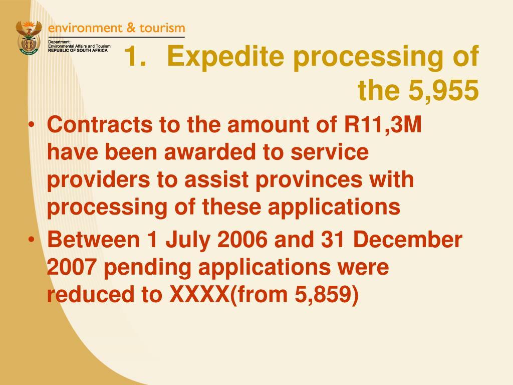 Expedite processing of
