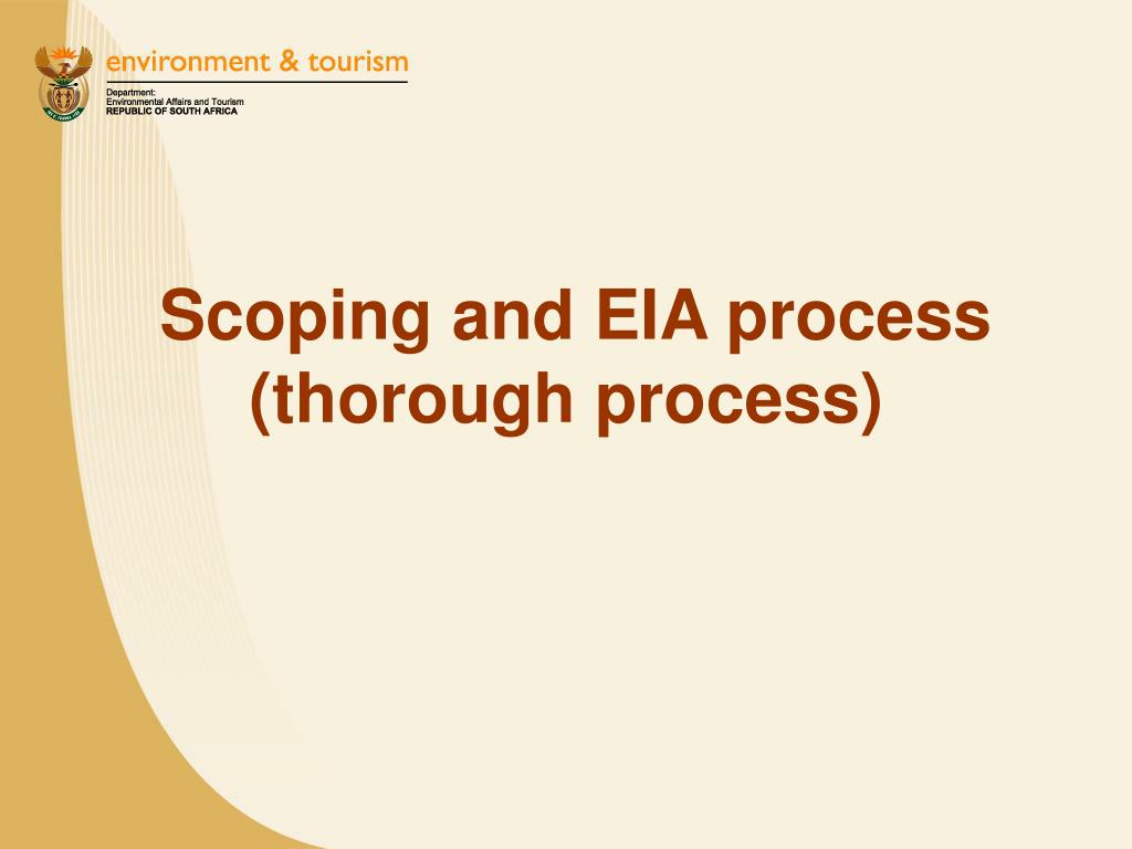Scoping and EIA process (thorough process)