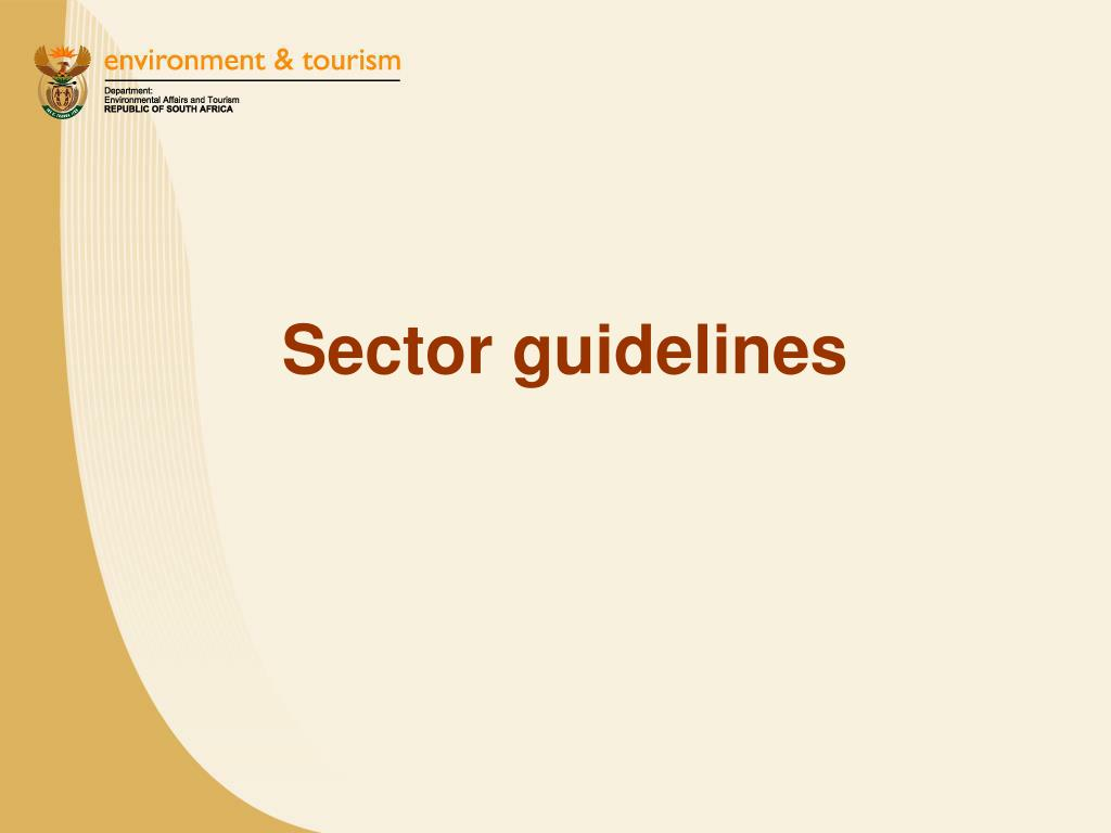 Sector guidelines