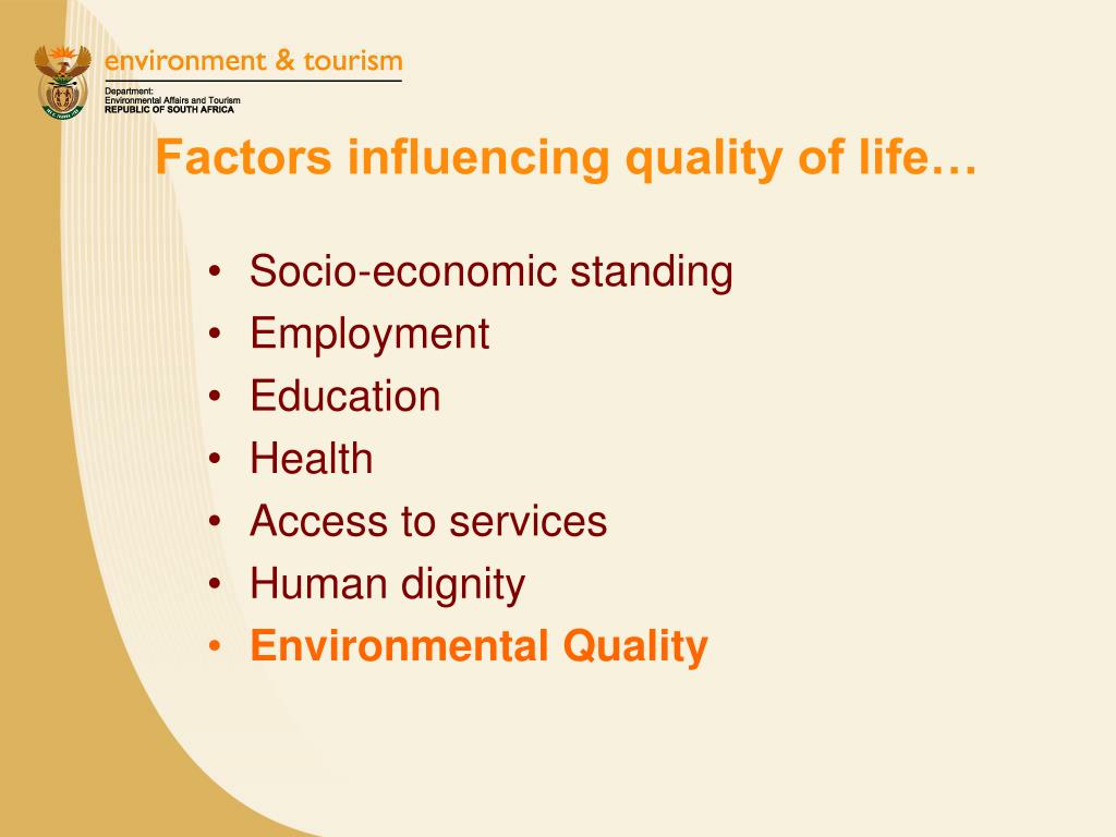 Factors influencing quality of life…