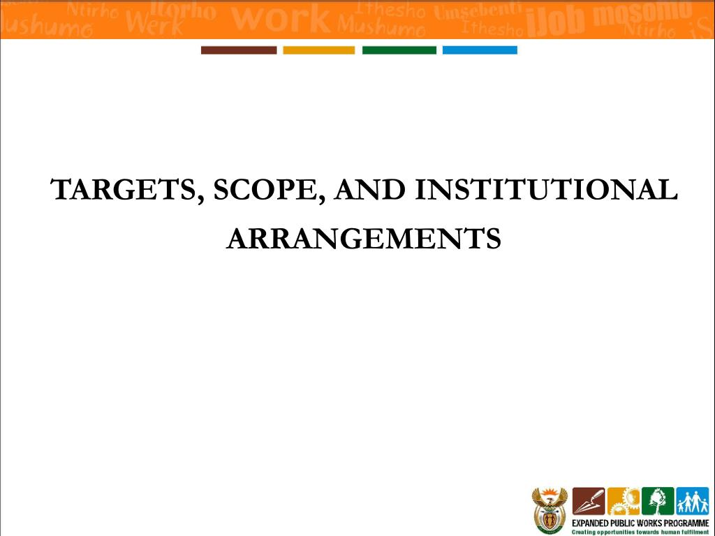 TARGETS, SCOPE, AND INSTITUTIONAL ARRANGEMENTS