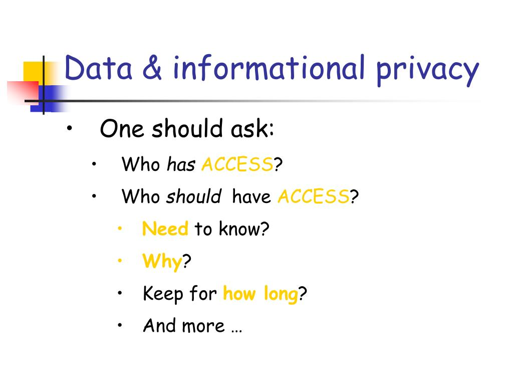 Data & informational privacy
