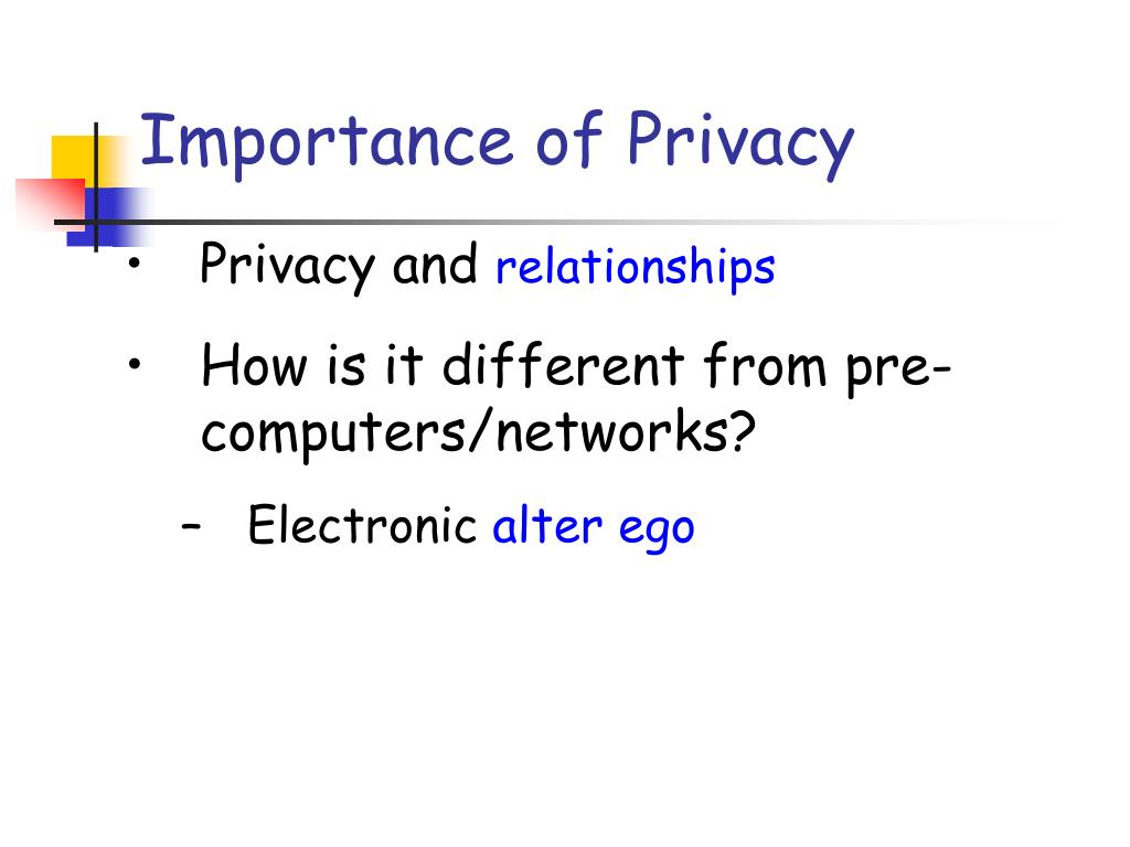 Importance of Privacy