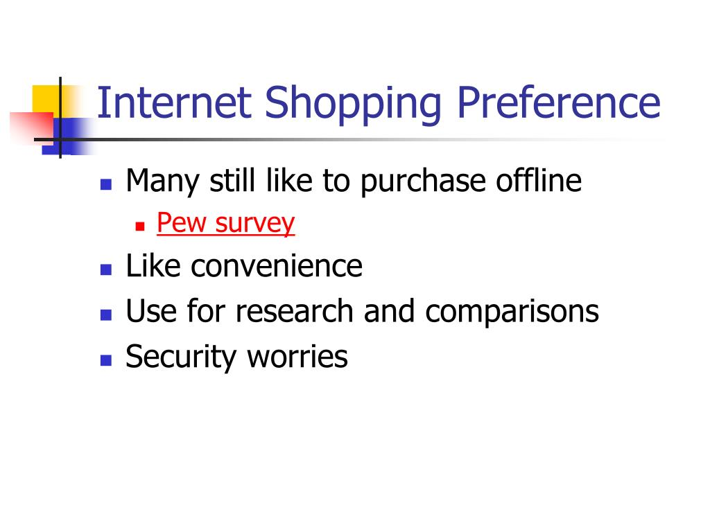 Internet Shopping Preference