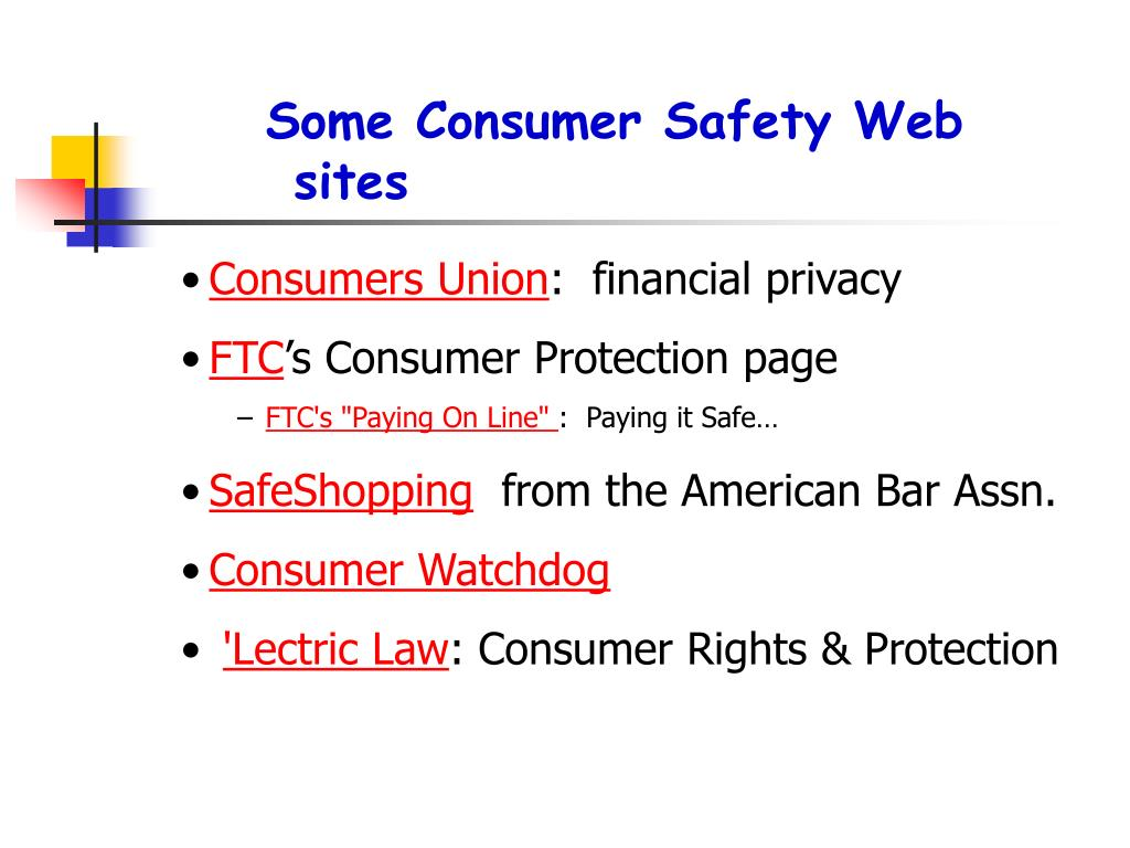 Some Consumer Safety Web sites