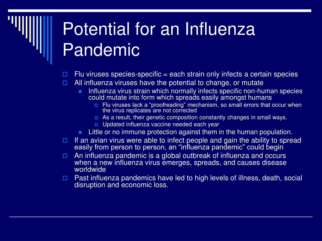 Potential for an Influenza Pandemic