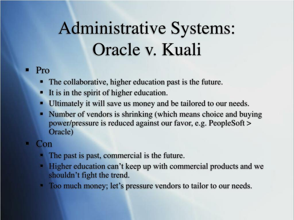 Administrative Systems: