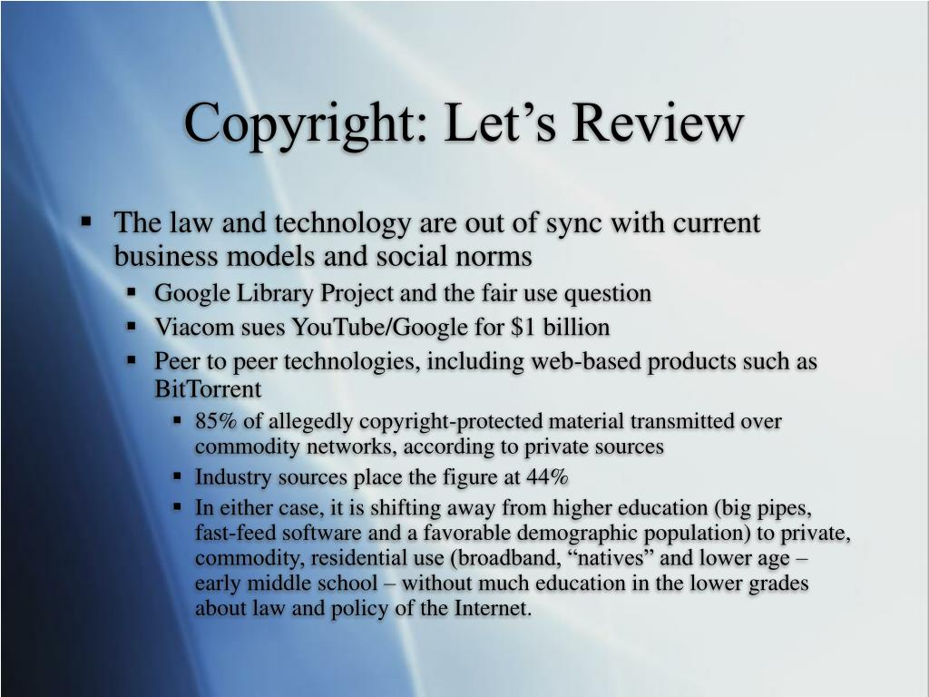 Copyright: Let's Review