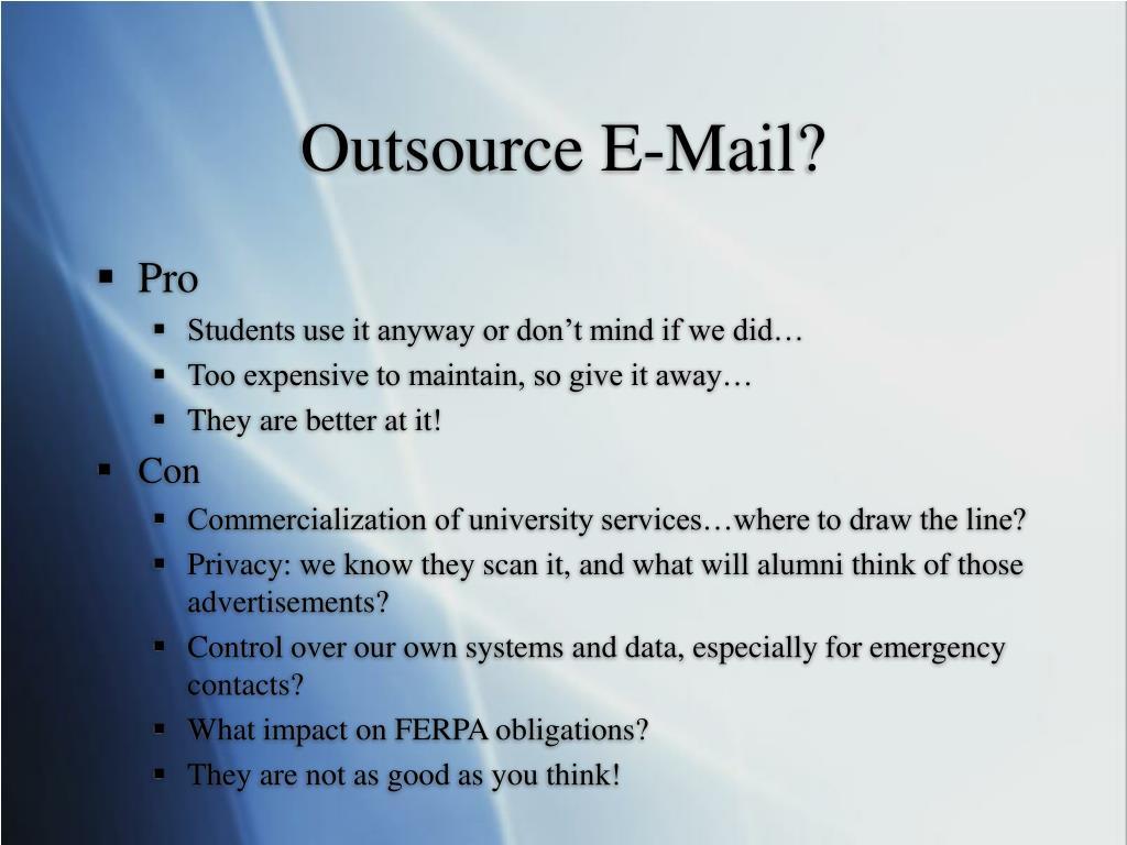 Outsource E-Mail?