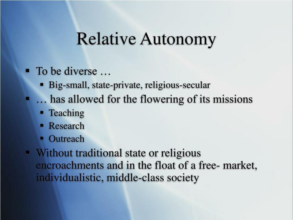 Relative Autonomy