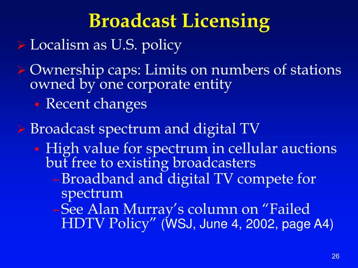 Broadcast Licensing