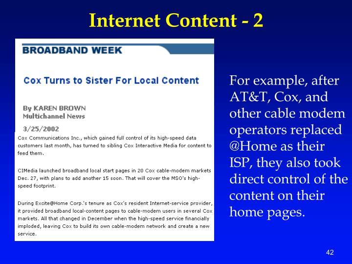 Internet Content - 2