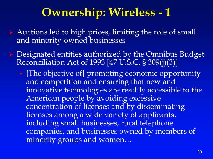 Ownership: Wireless - 1