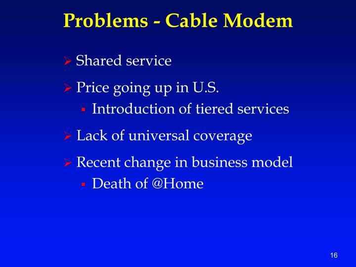 Problems - Cable Modem