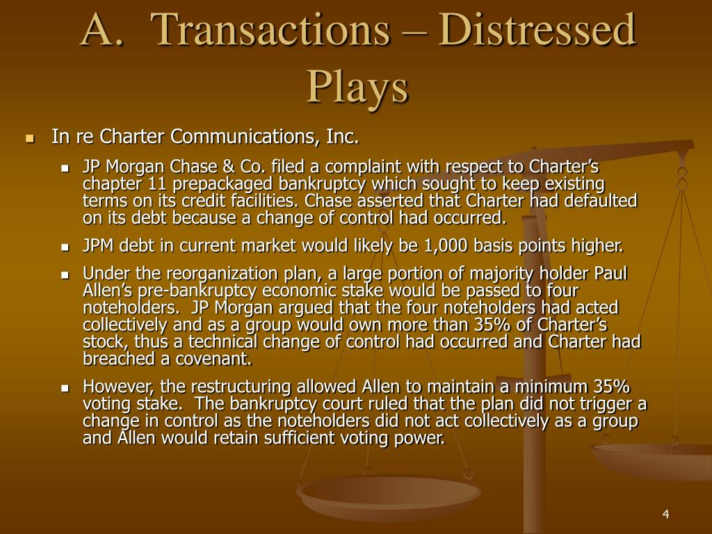 A.Transactions – Distressed Plays