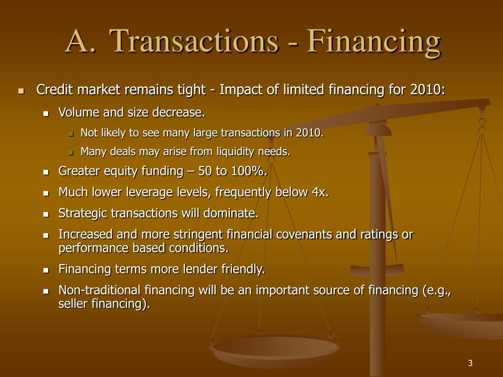 A.Transactions - Financing
