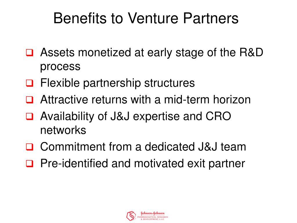 Benefits to Venture Partners